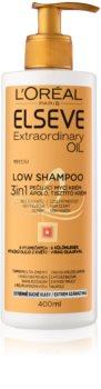 L'Oréal Paris Elseve Extraordinary Oil Low Shampoo pielęgnujący krem do mycia bardzo suchych włosów