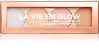 L'Oréal Paris Wake Up & Glow La Vie En Glow paleta iluminadora