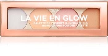 L'Oréal Paris Wake Up & Glow La Vie En Glow Palette mit aufhellendem Puder