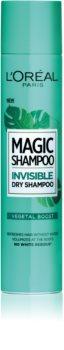 L'Oréal Paris Magic Shampoo Vegetal Boost сух шампоан за обем на косата, неоставящ бели следи