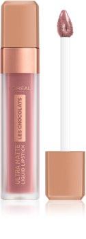 L'Oréal Paris Infallible Les Chocolats folyékony, matt ajakrúzs