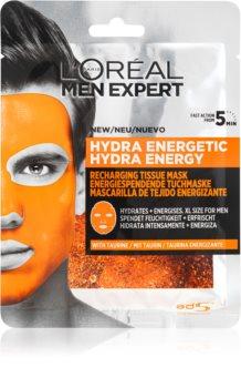 L'Oréal Paris Men Expert Hydra Energetic Feuchtigkeitsspendende Tuchmaske für Herren