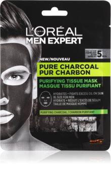 L'Oréal Paris Men Expert Pure Charcoal plátýnková maska