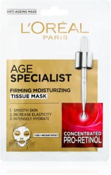 L'Oréal Paris Age Specialist 45+ Stoffmaske für ein sofortiges Straffen und Glätten der Haut