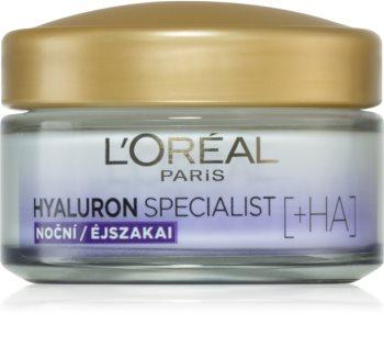 L'Oréal Paris Hyaluron Specialist krem wypełniający zmarszczki na noc