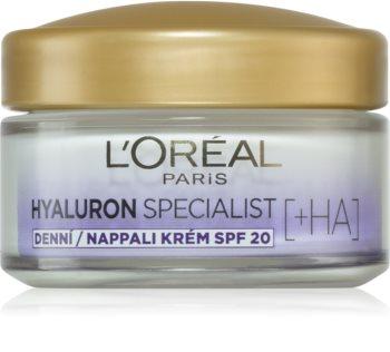 L'Oréal Paris Hyaluron Specialist feltöltő hidratáló krém SPF 20