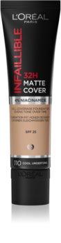 L'Oréal Paris Infallible 24H Matte Cover дълготраен матиращ фон дьо тен