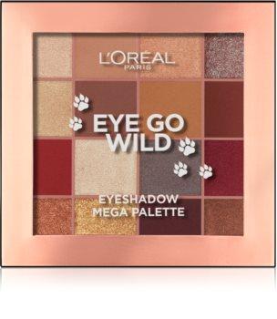 L'Oréal Paris Eye Go Wild Eyeshadow Mega Palette szemhéjfesték paletta