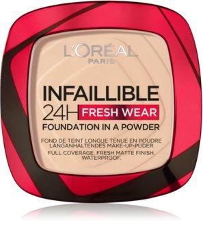 L'Oréal Paris Infaillible Fresh Wear 24h púderes make-up