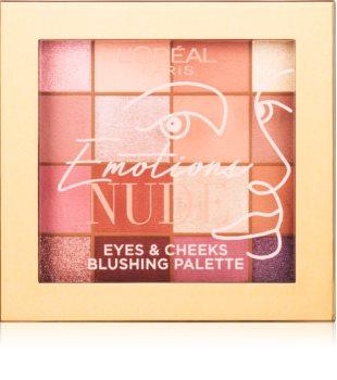 L'Oréal Paris Emotions Of Nu paletă cu farduri de ochi