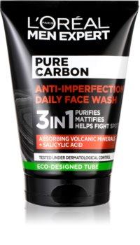 L'Oréal Paris Men Expert Pure Carbon почистващ гел 3 в 1 против несъвършенства на кожата