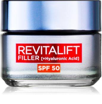 L'Oréal Paris Revitalift Filler дневен крем против стреене на кожата SPF 50