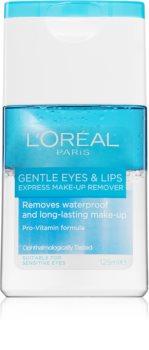 L'Oréal Paris Gentle proizvod za skidanje šminke za oči i usne za osjetljivu kožu lica