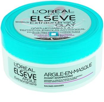 L'Oréal Paris Elseve Extraordinary Clay máscara de limpeza para cabelo rapidamente oleoso