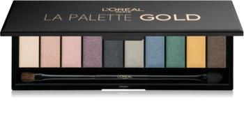 L'Oréal Paris Color Riche La Palette Gold paleta de sombras de ojos con espejo y aplicador
