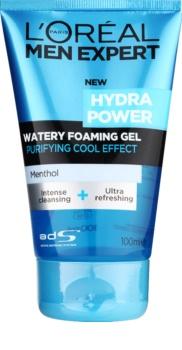 L'Oréal Paris Men Expert Hydra Power gel de limpeza com efeito resfrescante