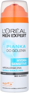 L'Oréal Paris Men Expert Hydra Sensitive espuma de barbear sem álcool