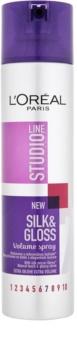 L'Oréal Paris Studio Line Silk&Gloss Volume spray para volume e brilho