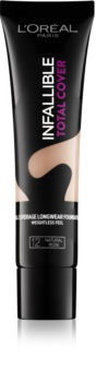 L'Oréal Paris Infallible Total Cover langanhaltende Make-up Foundation mit Matt-Effekt
