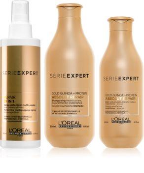 L'Oréal Professionnel Serie Expert Absolut Repair Gold Quinoa + Protein vorteilhafte Packung II. (für stark geschädigtes Haar)
