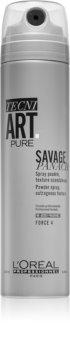 L'Oréal Professionnel Tecni.Art Savage Panache Pure pudră sub formă de spray pentru păr