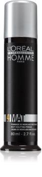 L'Oréal Professionnel Homme 4 Force Mat моделююча паста  з матуючим ефектом