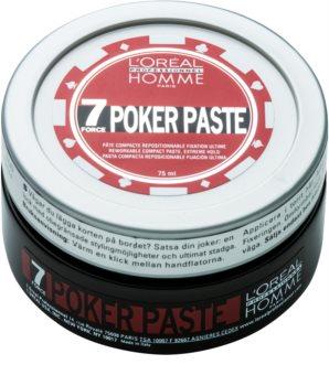 L'Oréal Professionnel Homme 7 Poker modelovací pasta extra silné zpevnění