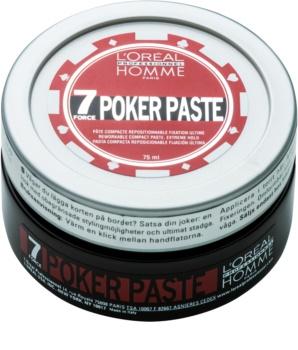 L'Oréal Professionnel Homme 7 Poker моделираща паста  екстра силна фиксация