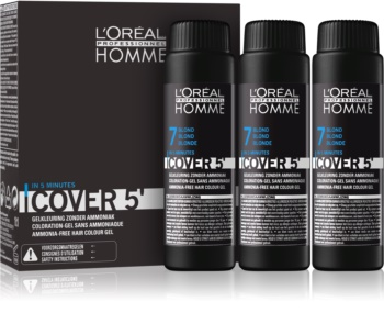 L'Oréal Professionnel Homme Cover 5' Toning Hair Color 3 pcs