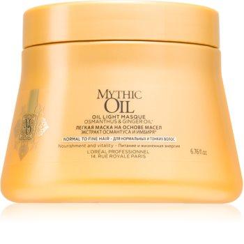L'Oréal Professionnel Mythic Oil gyengéd olajos maszk normál és gyengéd hajra