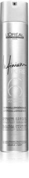 L'Oréal Professionnel Infinium Pure хипоалергенен лак за коса лека фиксация