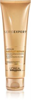 L'Oréal Professionnel Serie Expert Absolut Repair Lipidium crema regeneradora protectora protector de calor para el cabello