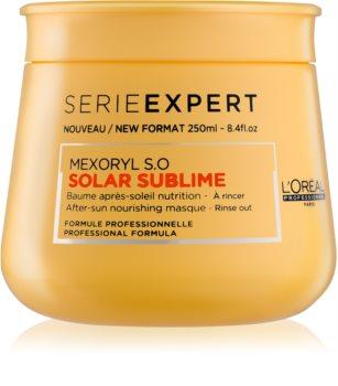L'Oréal Professionnel Serie Expert Solar Sublime подхранваща маска  за коса увредена от слънце, хлор и солна вода