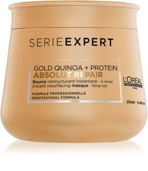 L'Oréal Professionnel Serie Expert Absolut Repair Gold Quinoa + Protein máscara de regeneração intensiva para cabelo muito danificado