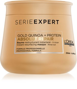 L'Oréal Professionnel Serie Expert Absolut Repair Gold Quinoa + Protein εντατικά αναγεννητική μάσκα για πολύ κατεστραμμένα μαλλιά