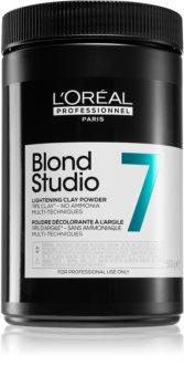 L'Oréal Professionnel Blond Studio Lightening Clay Powder élénkítő púder ammónia nélkül