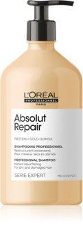 L'Oréal Professionnel Serie Expert Absolut Repair Gold Quinoa + Protein hĺbkovo regeneračný šampón pre suché a poškodené vlasy