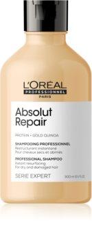 L'Oréal Professionnel Serie Expert Absolut Repair Gold Quinoa + Protein mélyregeneráló sampon száraz és sérült hajra