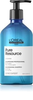 L'Oréal Professionnel Serie Expert Pure Resource mélyen tisztító sampon hab zsíros hajra