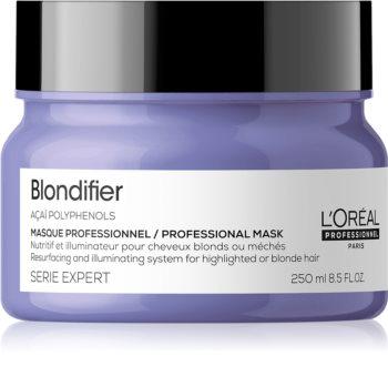L'Oréal Professionnel Serie Expert Blondifier regeneráló és helyreállító maszk a szőke és melírozott hajra