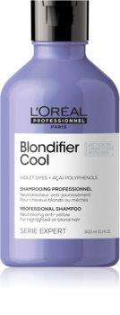 L'Oréal Professionnel Serie Expert Blondifier lila sampon semlegesíti a sárgás tónusokat