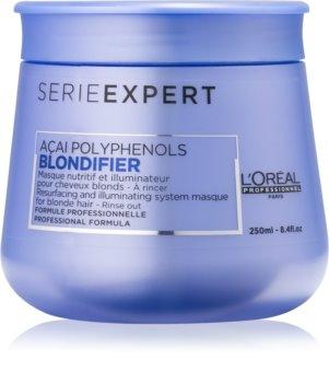 L'Oréal Professionnel Serie Expert Blondifier máscara iluminadora para cabelo loiro e grisalho