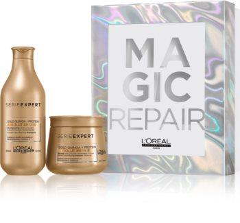 L'Oréal Professionnel Serie Expert Absolut Repair Gold Quinoa + Protein Geschenkset I. (für stark geschädigtes Haar)