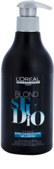 L'Oréal Professionnel Blond Studio Post Lightening champú para aclarar el cabello y hacer mechas