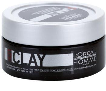 L'Oréal Professionnel Homme 5 Force Clay lut modelator fixare puternica