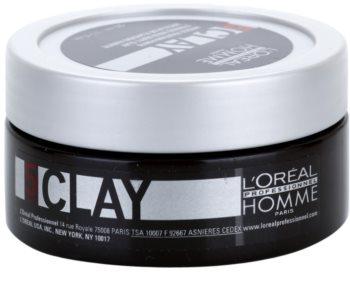 L'Oréal Professionnel Homme 5 Force Clay διαμορφωτικός πηλός ισχυρή αντοχή