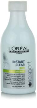 L'Oréal Professionnel Série Expert Instant Clear champô anticaspa para cabelo normal a oleoso