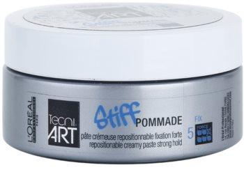 L'Oréal Professionnel Tecni.Art Stiff pomada con textura cremosa  fijación fuerte