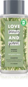 Love Beauty & Planet Delightful Detox sampon pentru curatare pentru par gras