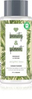 Love Beauty & Planet Delightful Detox Balsam de curățare pentru par gras